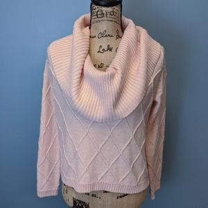 Guess Pink Cropped Sweater, size S